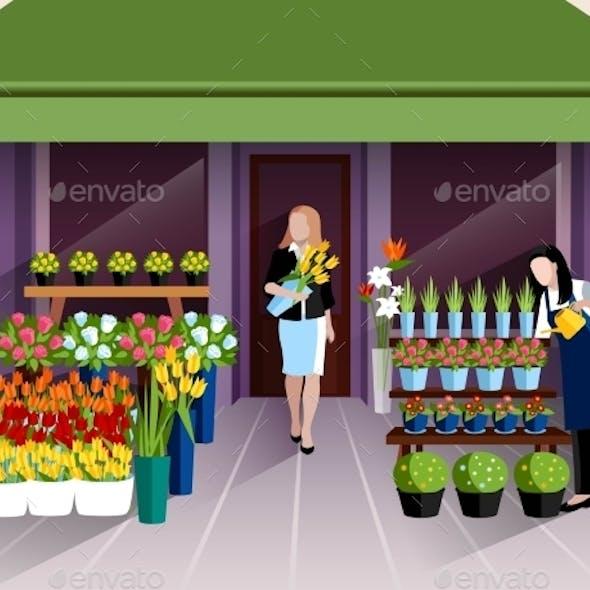 Flower Shop Entrance Banner