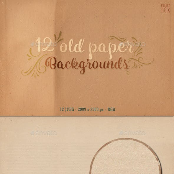 12 Old Paper Backgrounds