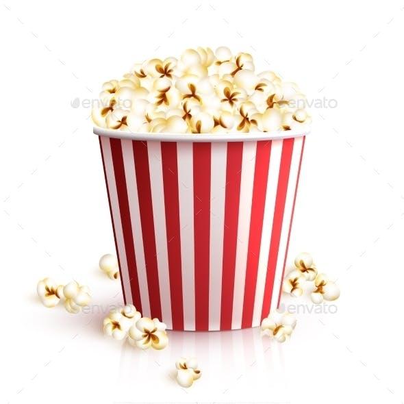 Realistic Popcorn Bucket