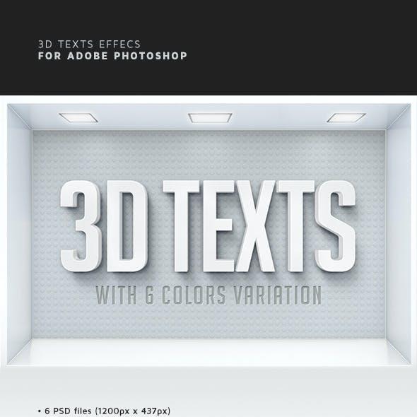 3D Text Effects