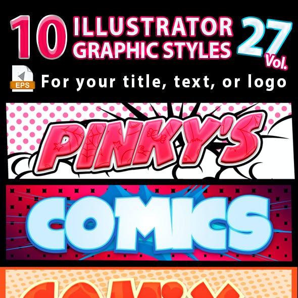 10 Illustrator Graphic Styles Vol.27