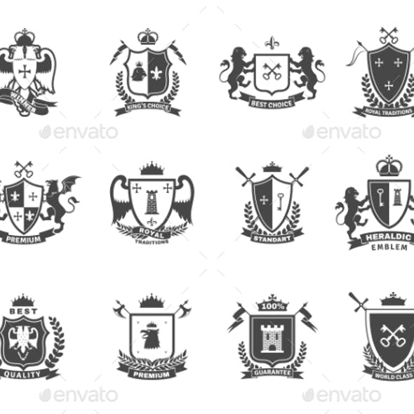 Heraldic Premium Quality Emblems Set