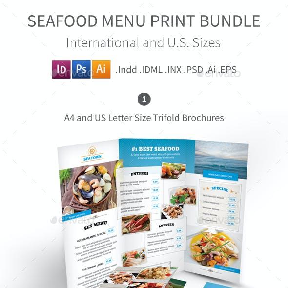 Seafood Restaurant Menu Print Bundle