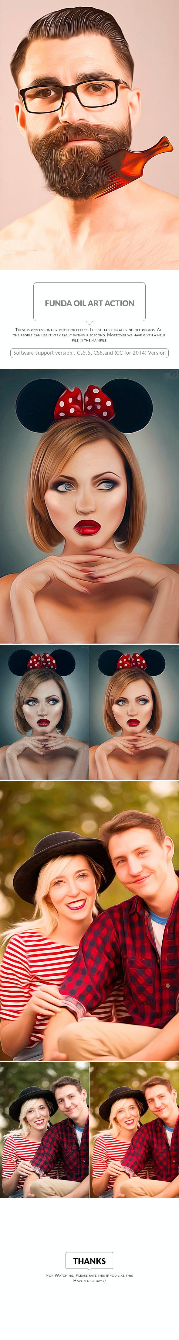 Funda Oil Art Action - Photo Effects Actions