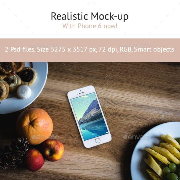 2 Realistic Phone 6 Mock-up