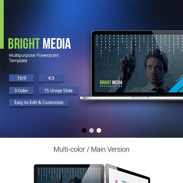 Bright Media Powerpoint Presentation Template