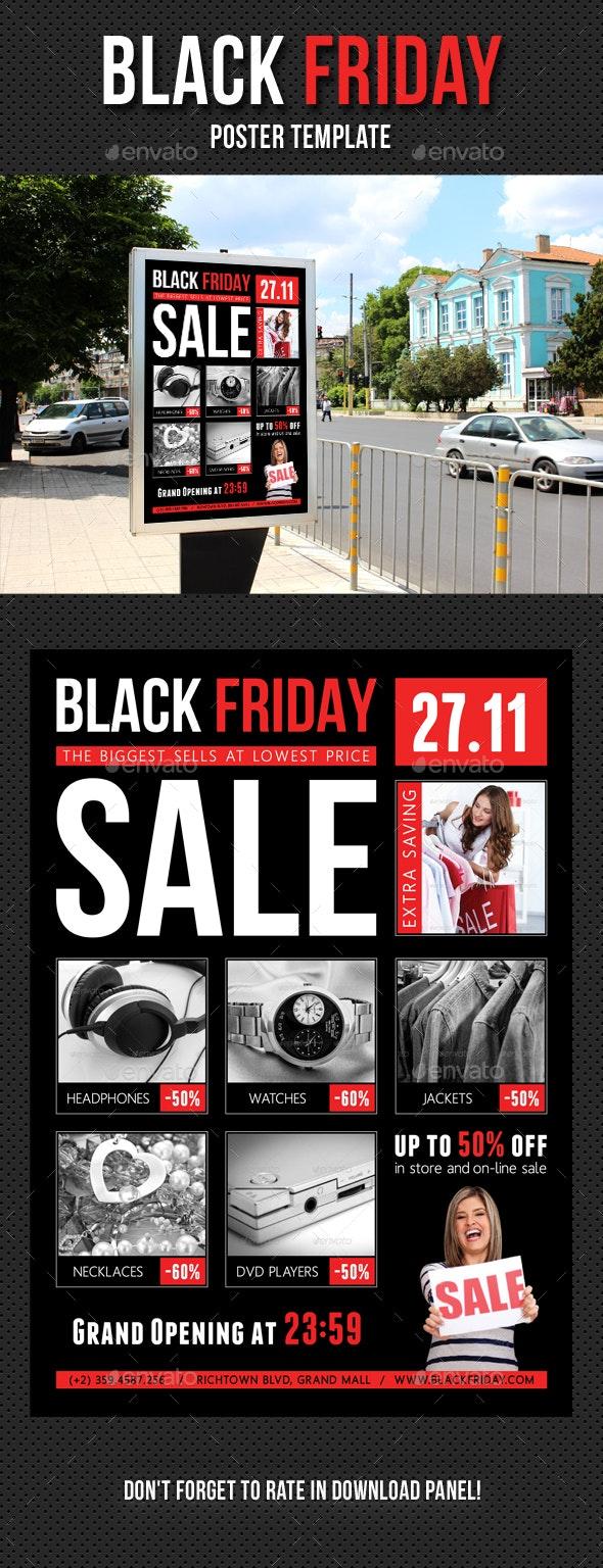 Black Friday Poster Template V01 - Signage Print Templates
