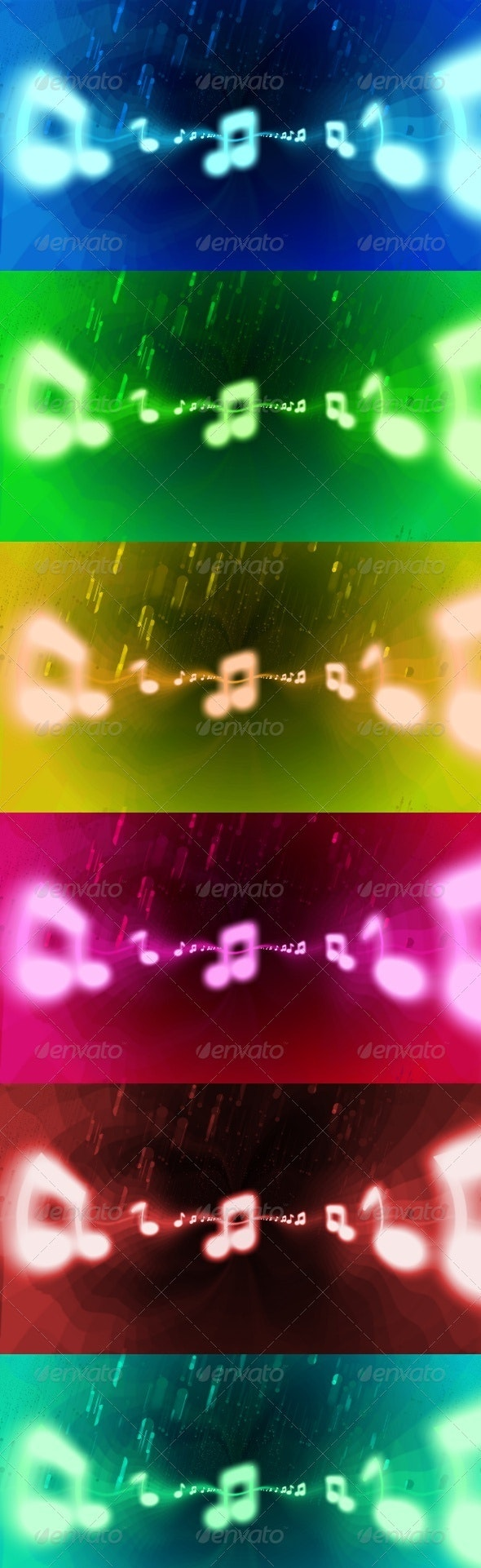 Music Melody 6x Pack - Abstract Backgrounds