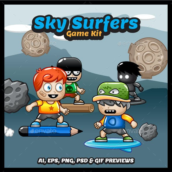 Sky Surfers Game Asset