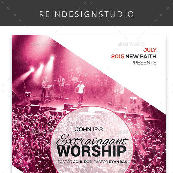 Church Worship Flyer Bundle