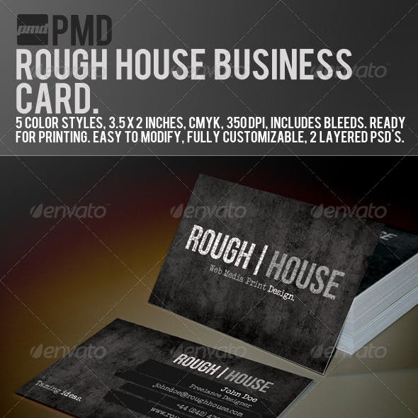 PMD - Rough House Grunge Business Card