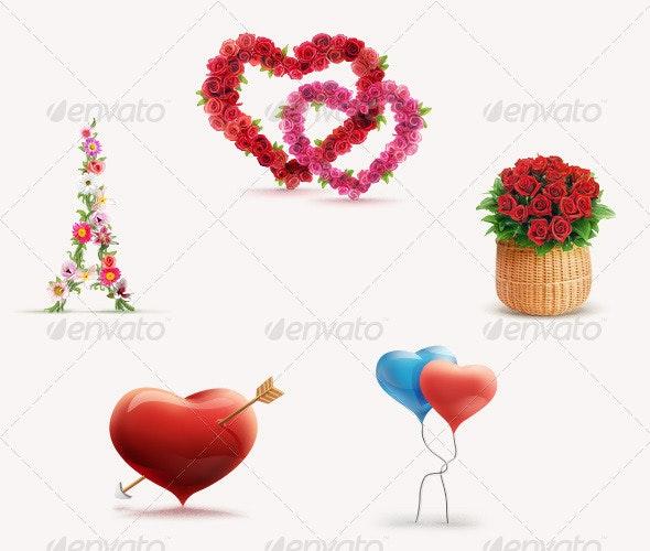 Love Set - Objects Illustrations