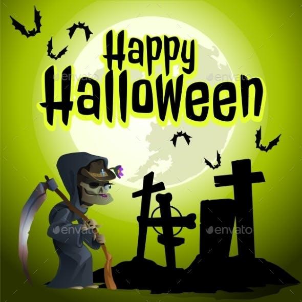 The Grim Reaper In The Cemetery