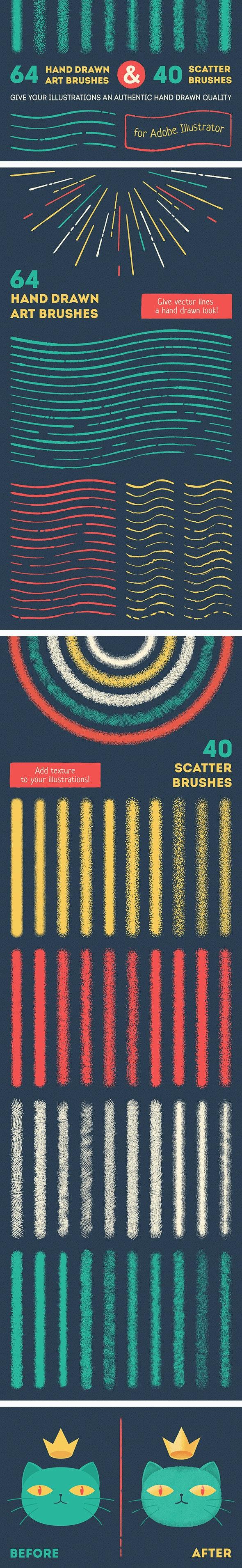 Vector Brush Set - Texture Brushes