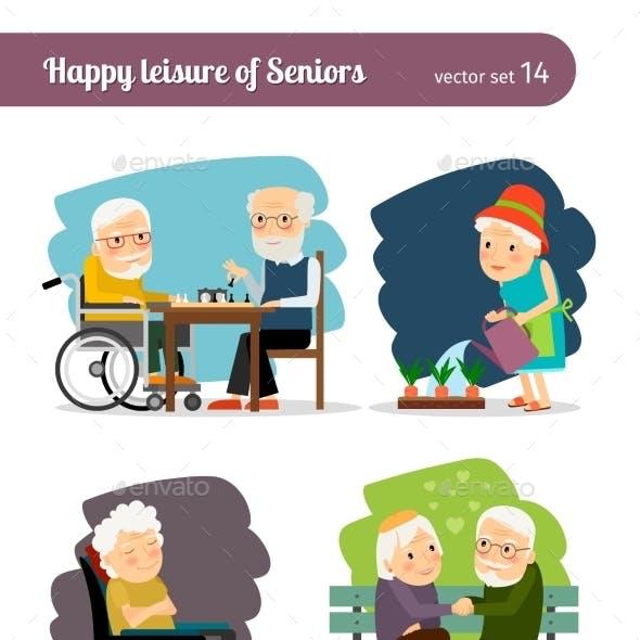 Seniors Happy Leisure