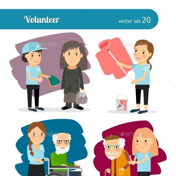 Woman Volunteer Characters