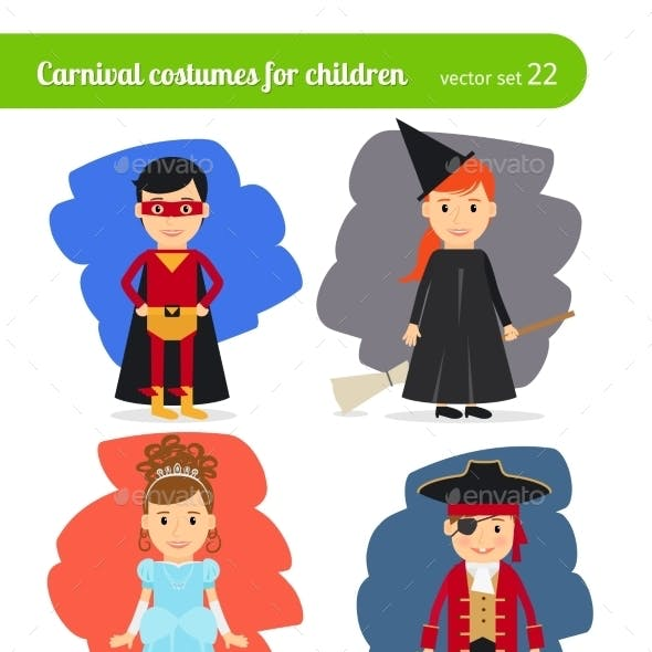 Kids Wearing Costumes