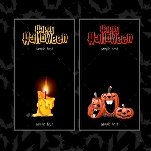 Two Vertical Cards For Halloween