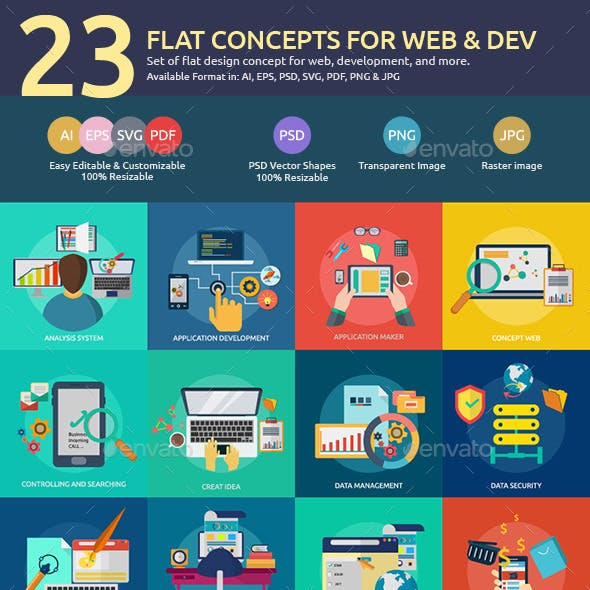 Flat Concepts for Web & Development