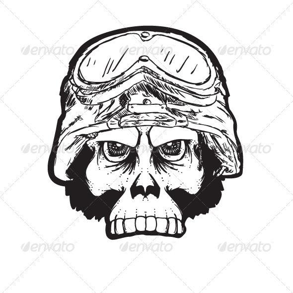 Ape Soldier Skull - Characters Vectors