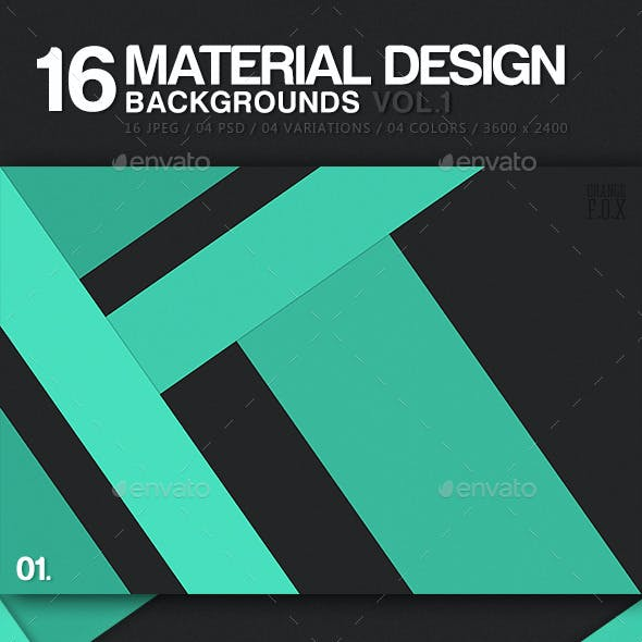 16 Material Design Backgrounds - Vol.1