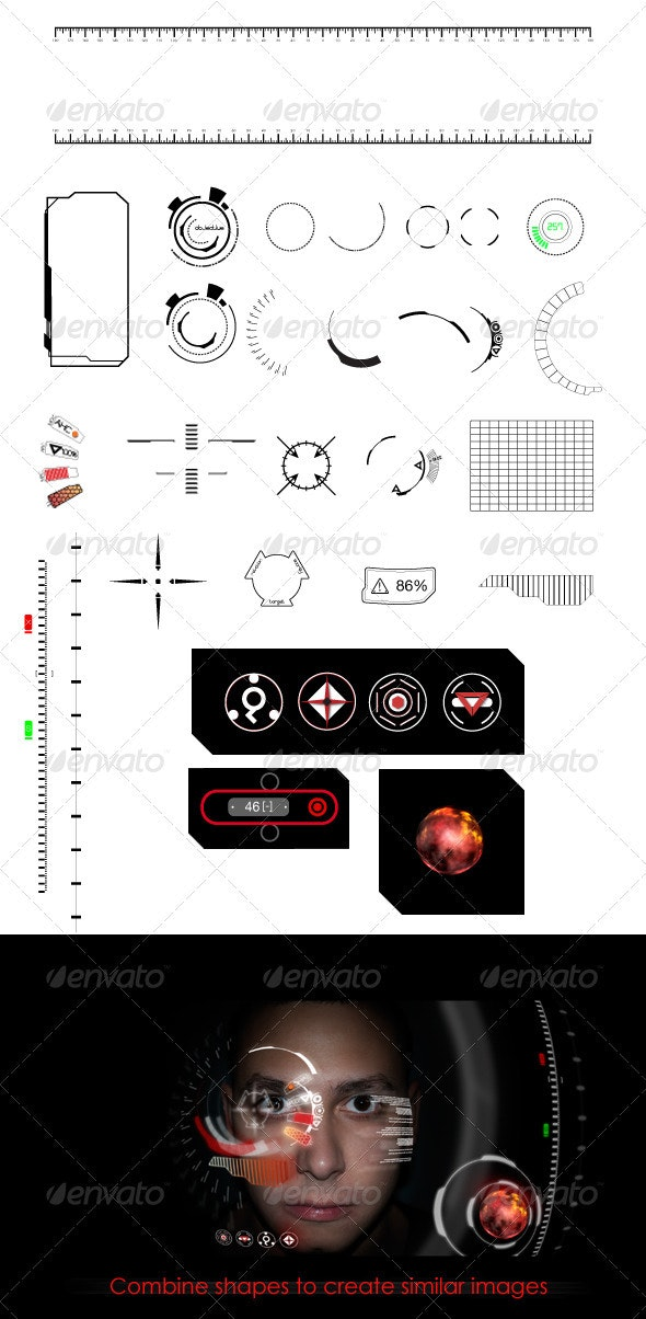 Heads Up Display (HUD) Elements - Technology Conceptual