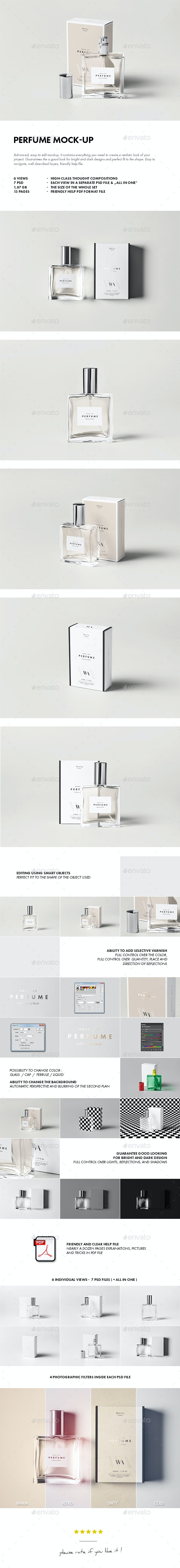 Perfume Mock-up - Beauty Packaging