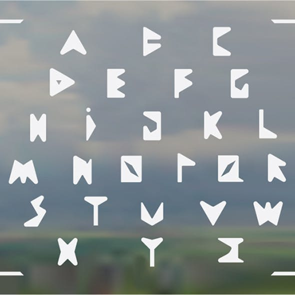 Rounded Corner Triangles Font