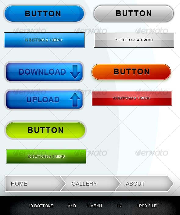 Buttons and Menu - Buttons Web Elements