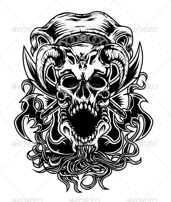 Armed Skull