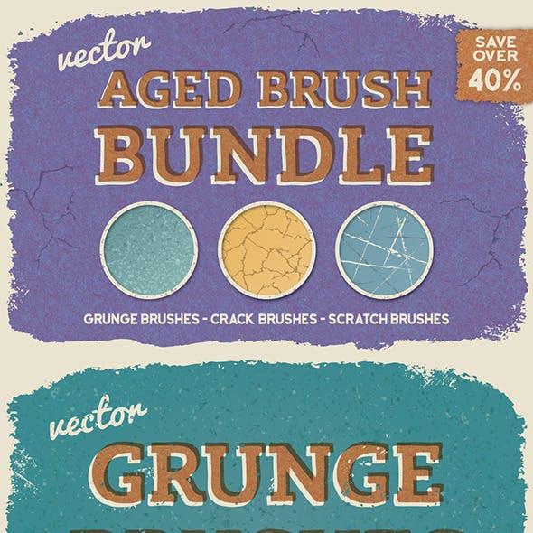 Aged Vector Brush Bundle