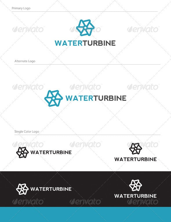 Water Turbine Logo Design - OBJ-003 - Objects Logo Templates