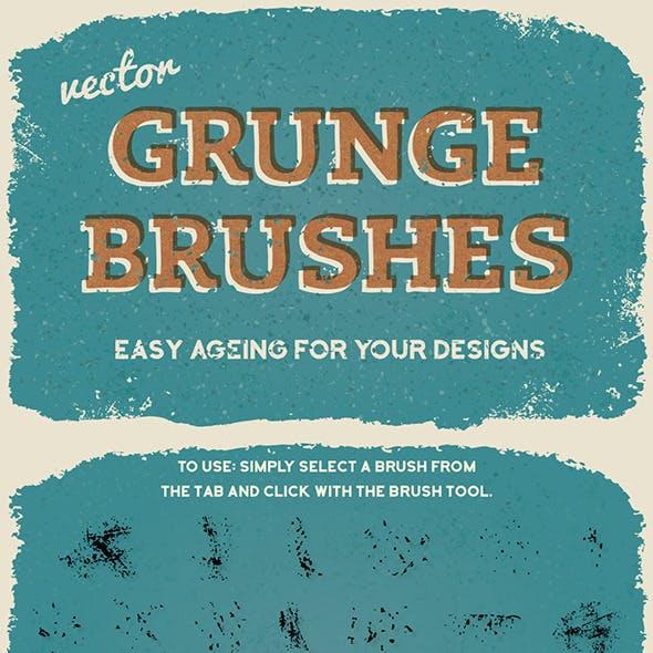 Vector Subtle Grunge Brushes