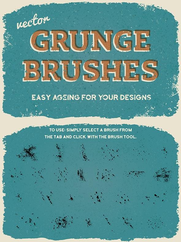 Vector Subtle Grunge Brushes - Brushes Illustrator