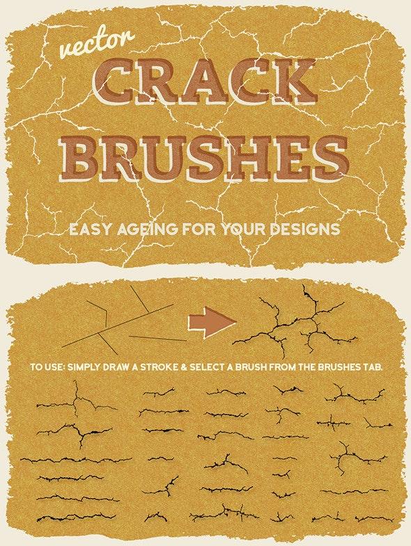 Vector Crack Brushes - Brushes Illustrator