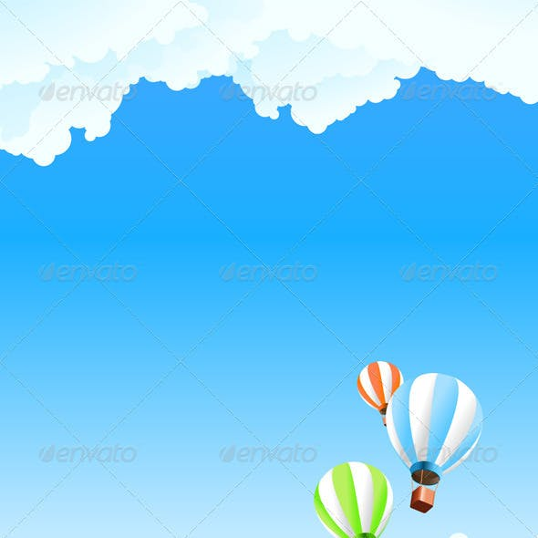 Summer Landscape with Balloon