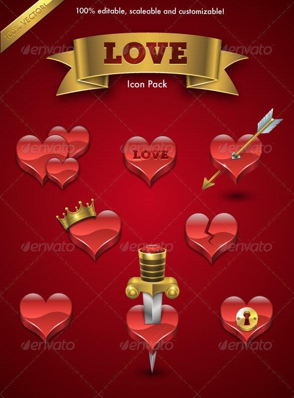 Love Icon Pack - Seasonal Icons