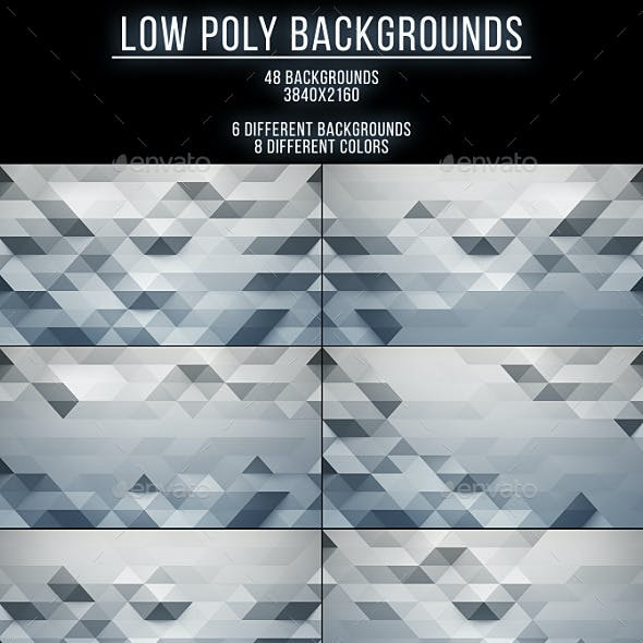 48 Low Poly Backgrounds