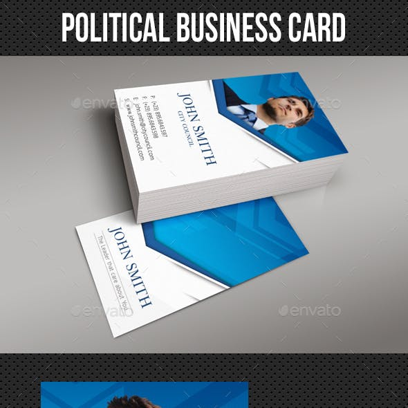 Political Business Card Template