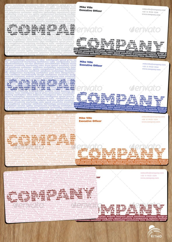Words making your Company - Creative Business Cards