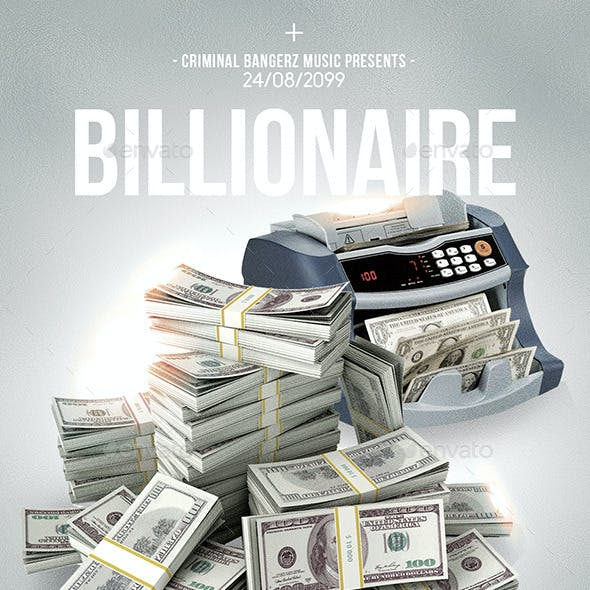 Billionaire 2 | Hip-Hop Modern Flyer PSD Template