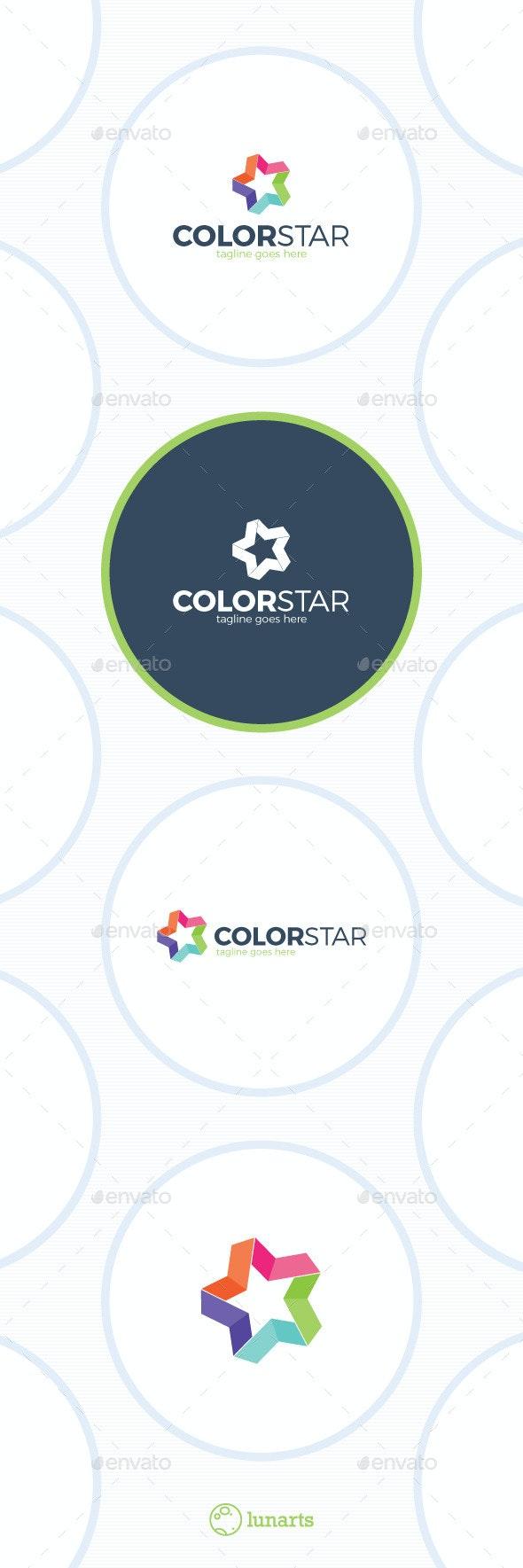 Colorful Star Logo - Bold Line - Symbols Logo Templates
