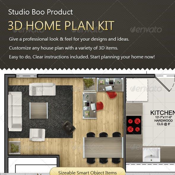 3D Home Plan Kit