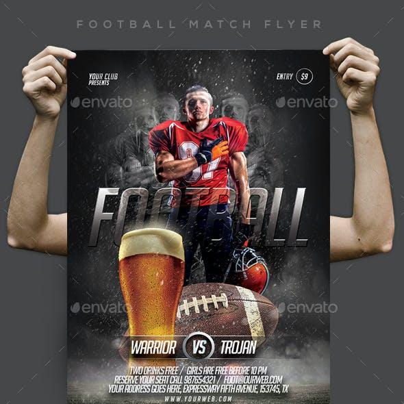 Football Match Flyer