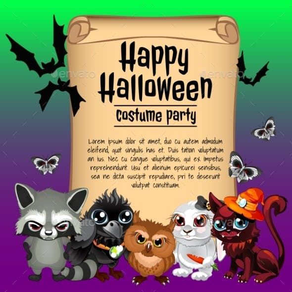 Inhabitants of the Forest and Card Happy Halloween