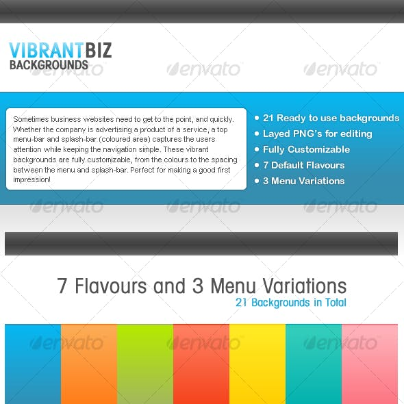 Vibrant Business Backgrounds