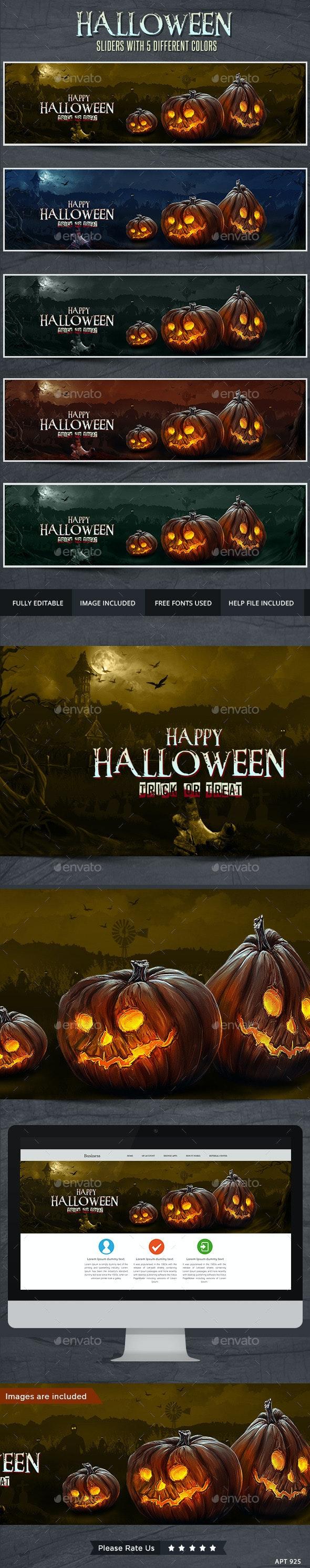 Halloween Slider - Sliders & Features Web Elements
