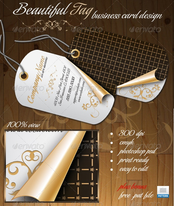 Beautiful Tag Business Card - Creative Business Cards