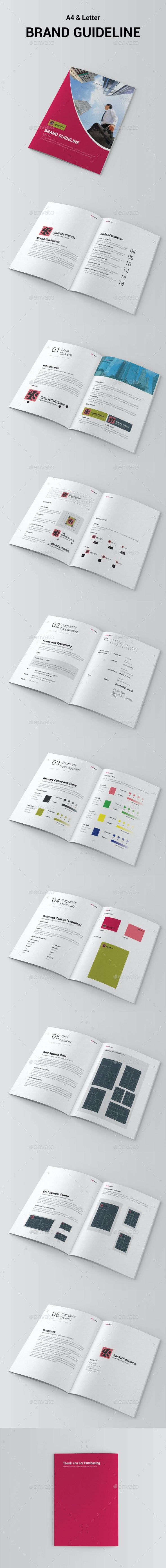 Brand Manual Template - Corporate Brochures