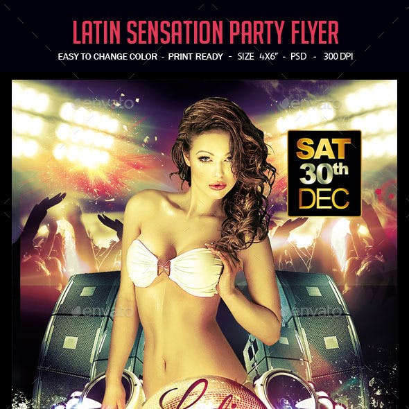 Latin Sensation Party Flyer